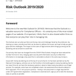 SRA Risk Outlook 2019/2020