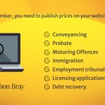 The SRA Transparency Rules require solicitors to publish price and service information on their websites
