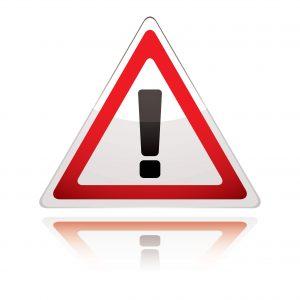 warning sign for SRA Risk Outlook